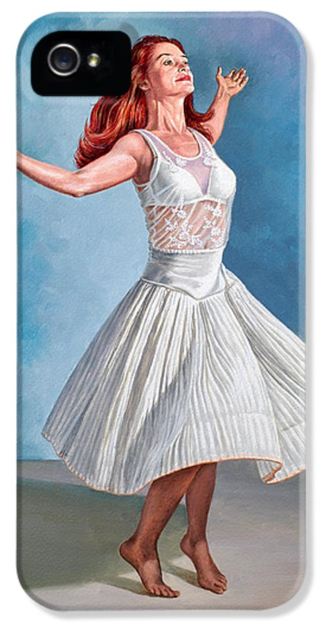 Figure IPhone 5 Case featuring the painting Dancer In White by Paul Krapf