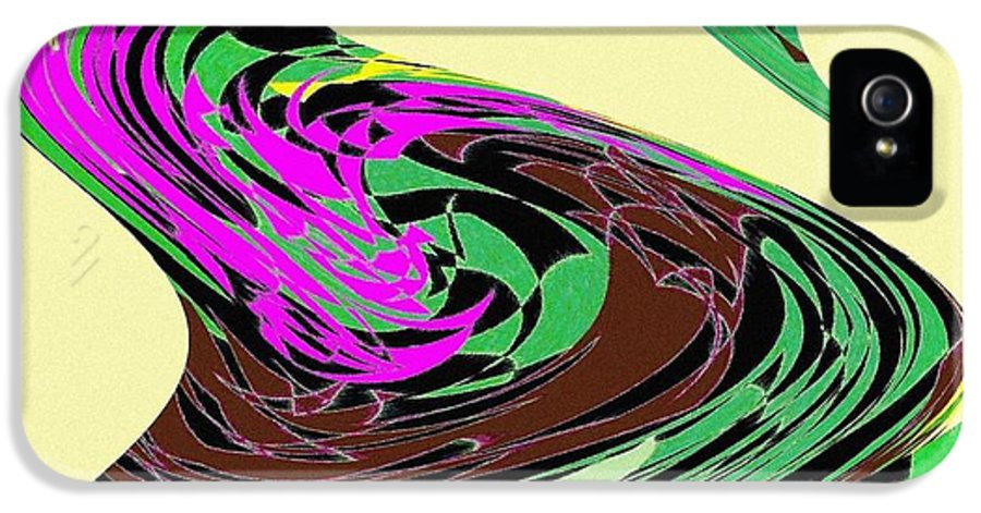 Abstract IPhone 5 Case featuring the digital art Dancing Goose 2 by Will Borden