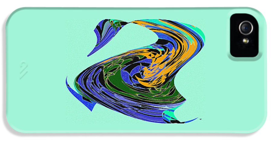 Abstract IPhone 5 Case featuring the digital art Dancing Goose by Will Borden