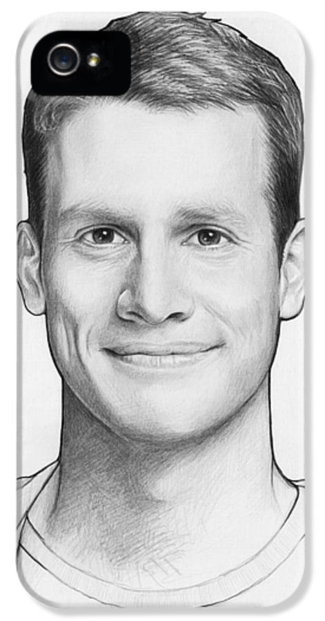 Graphite Pencil IPhone 5 Case featuring the drawing Daniel Tosh by Olga Shvartsur