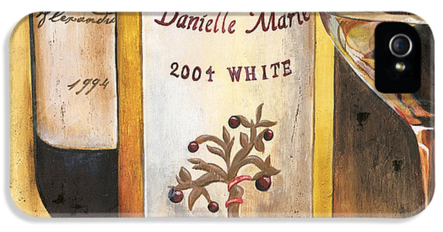 Red Grapes IPhone 5 Case featuring the painting Danielle Marie 2004 by Debbie DeWitt