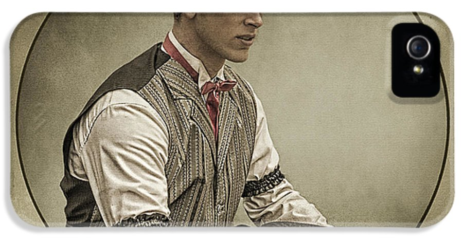 Texture IPhone 5 Case featuring the photograph Dapper Dan by Priscilla Burgers