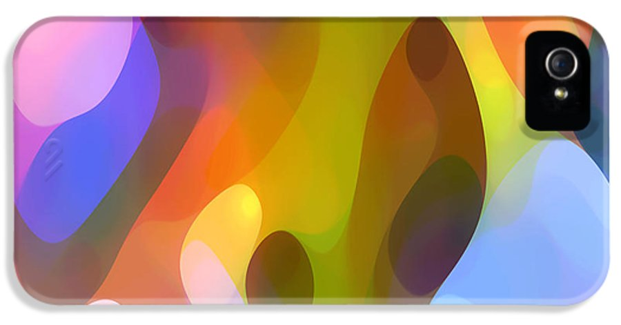 Abstract Art IPhone 5 Case featuring the painting Dappled Art 8 by Amy Vangsgard