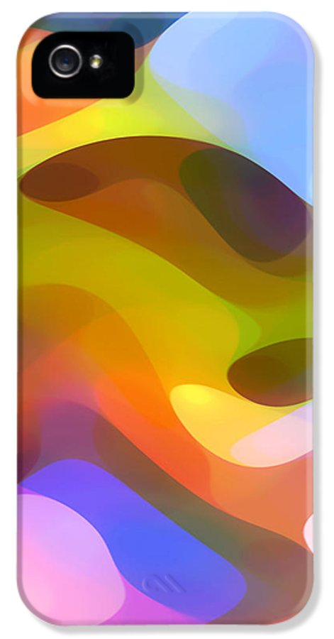 Abstract Art IPhone 5 Case featuring the painting Dappled Light 5 by Amy Vangsgard