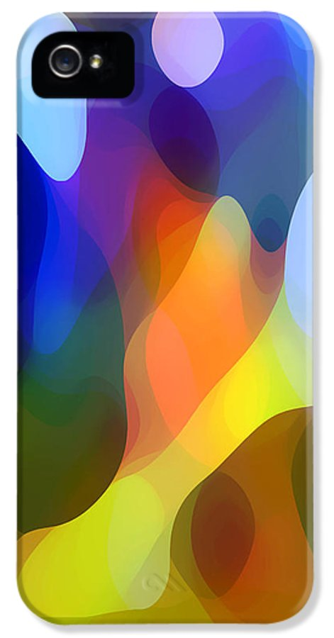 Abstract Art IPhone 5 Case featuring the painting Dappled Light by Amy Vangsgard