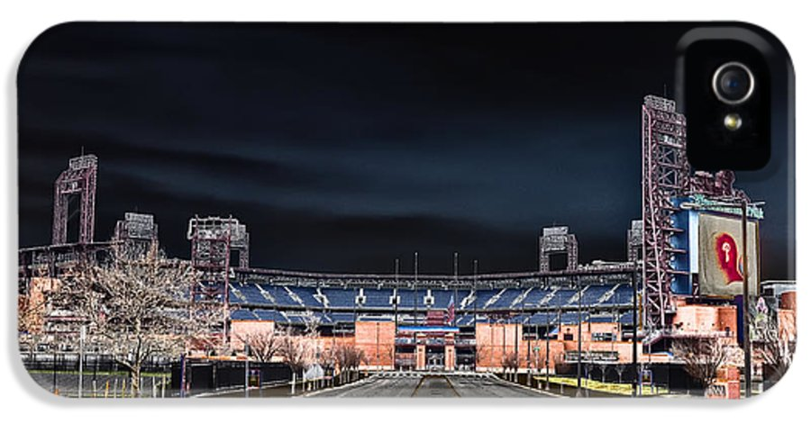 Dark IPhone 5 Case featuring the photograph Dark Skies At Citizens Bank Park by Bill Cannon