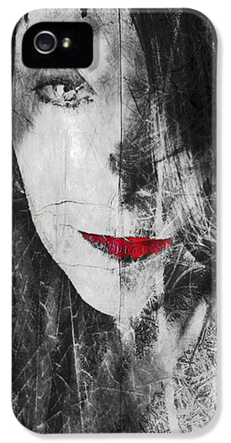 Dark Thoughts IPhone 5 Case featuring the photograph Dark Thoughts by Linda Sannuti