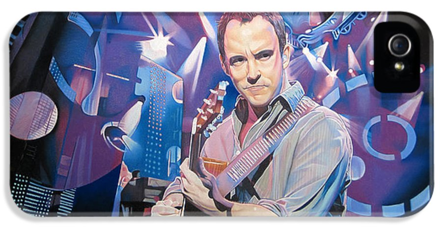 Dave Matthews IPhone 5 Case featuring the drawing Dave Matthews And 2007 Lights by Joshua Morton