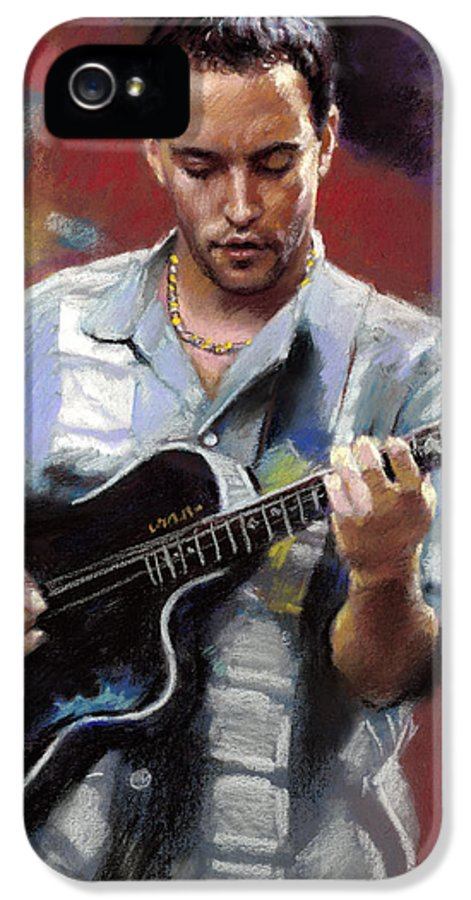 Dave Matthews IPhone 5 Case featuring the drawing Dave Matthews by Viola El