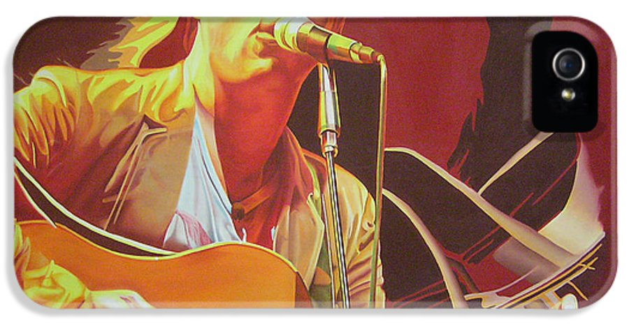Dave Matthews IPhone 5 Case featuring the painting Dave Matthews At Vegoose by Joshua Morton