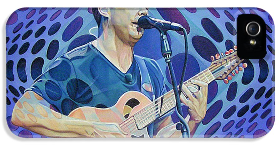 Dave Matthews IPhone 5 Case featuring the drawing Dave Matthews Pop-op Series by Joshua Morton
