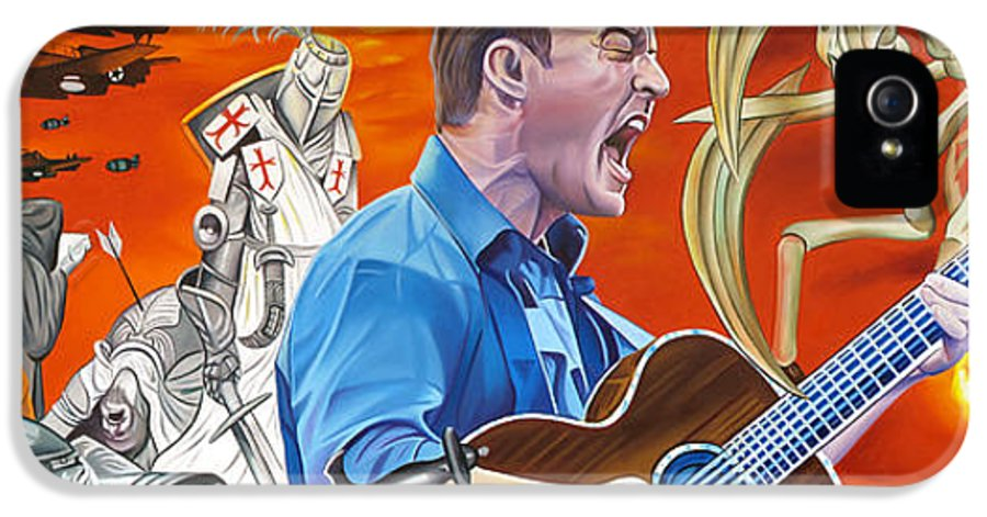 Dave Matthews Band IPhone 5 Case featuring the painting Dave Matthews The Last Stop by Joshua Morton