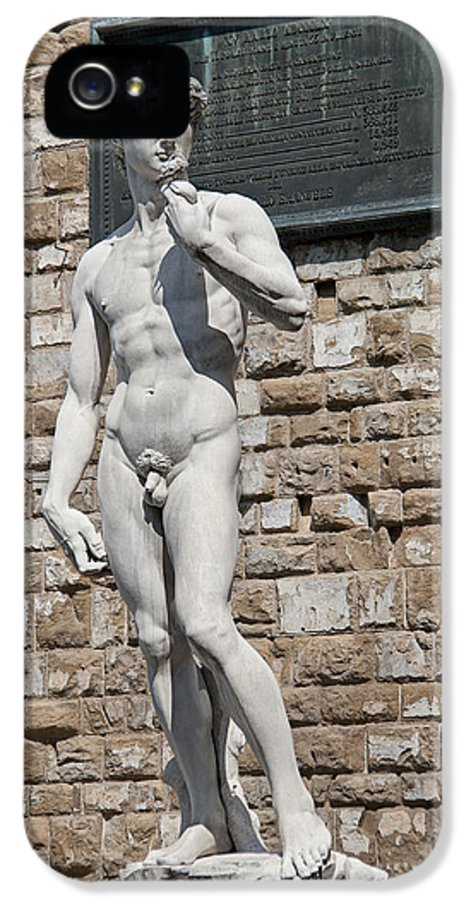 Aggression IPhone 5 Case featuring the photograph David By Michelangelo by Melany Sarafis