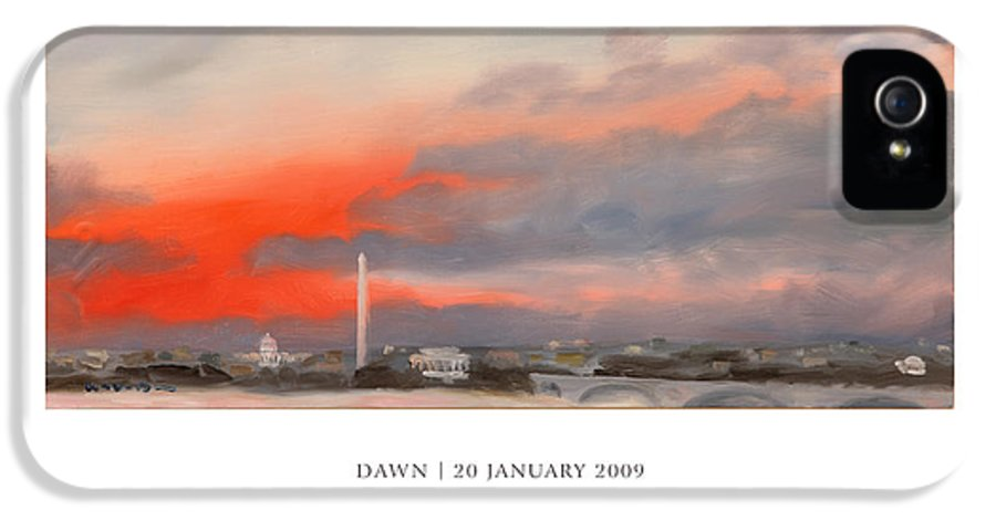 Inauguration IPhone 5 Case featuring the painting Dawn 20 January 2009 by William Van Doren