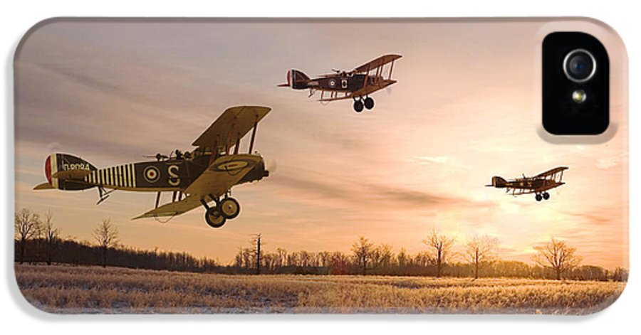 Aircraft IPhone 5 Case featuring the digital art Dawn Patrol by Pat Speirs