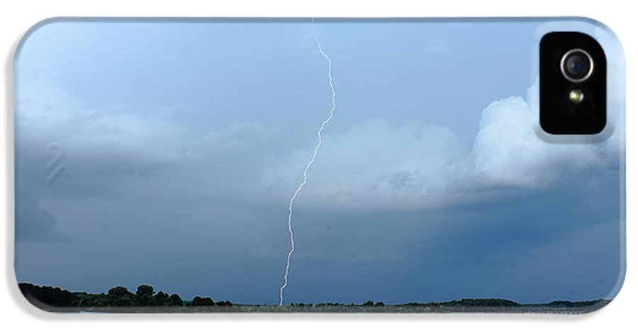 Cloud IPhone 5 Case featuring the photograph Day Lightning by Reid Callaway