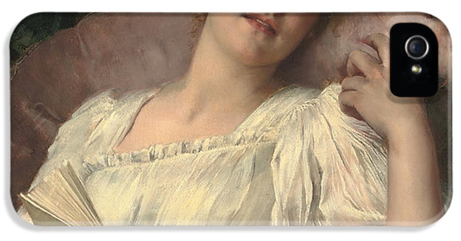 Daydreaming IPhone 5 Case featuring the painting Daydreaming by Conrad Kiesel