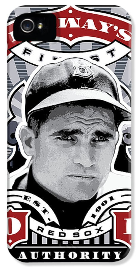 Ted Williams IPhone 5 Case featuring the digital art Dcla Bobby Doerr Fenway's Finest Stamp Art by David Cook Los Angeles