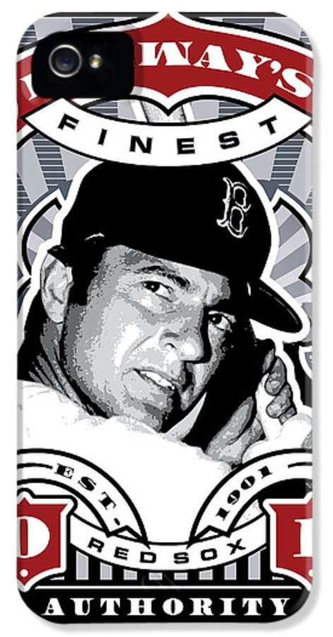 Ted Williams IPhone 5 Case featuring the digital art Dcla Carl Yastrzemski Fenway's Finest Stamp Art by David Cook Los Angeles