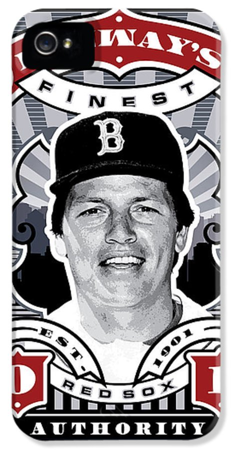 Ted Williams IPhone 5 Case featuring the digital art Dcla Carlton Fisk Fenway's Finest Stamp Art by David Cook Los Angeles