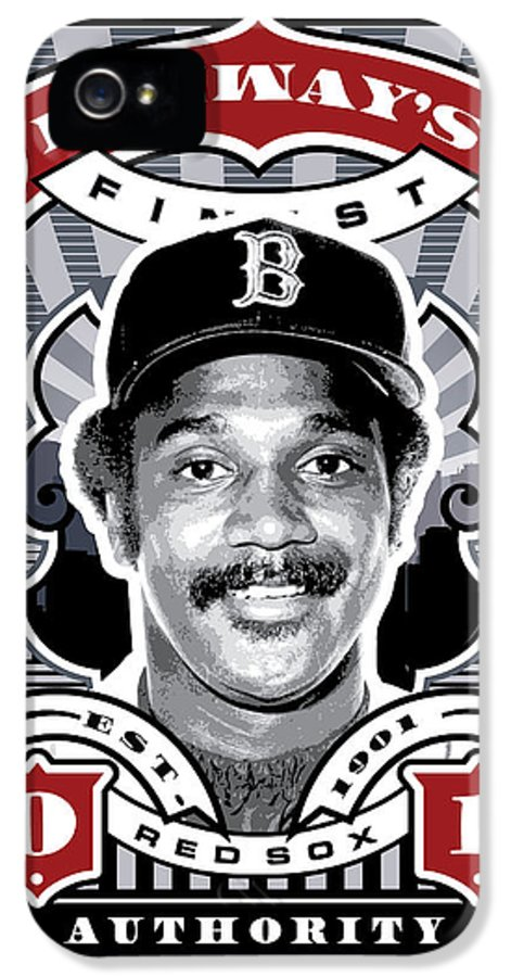 Ted Williams IPhone 5 Case featuring the digital art Dcla Jim Rice Fenway's Finest Stamp Art by David Cook Los Angeles