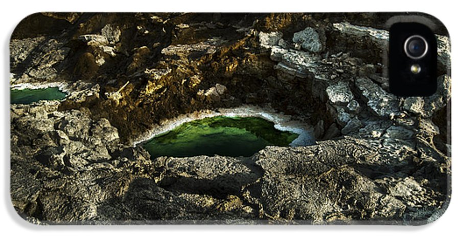 Sink Holes IPhone 5 Case featuring the photograph Dead Sea Sink Holes by Dan Yeger