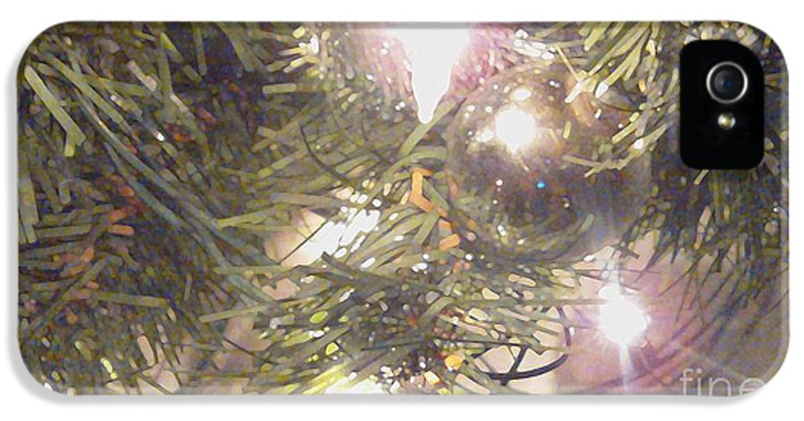 Evergreen IPhone 5 Case featuring the digital art Deck The Halls 2011 by Feile Case