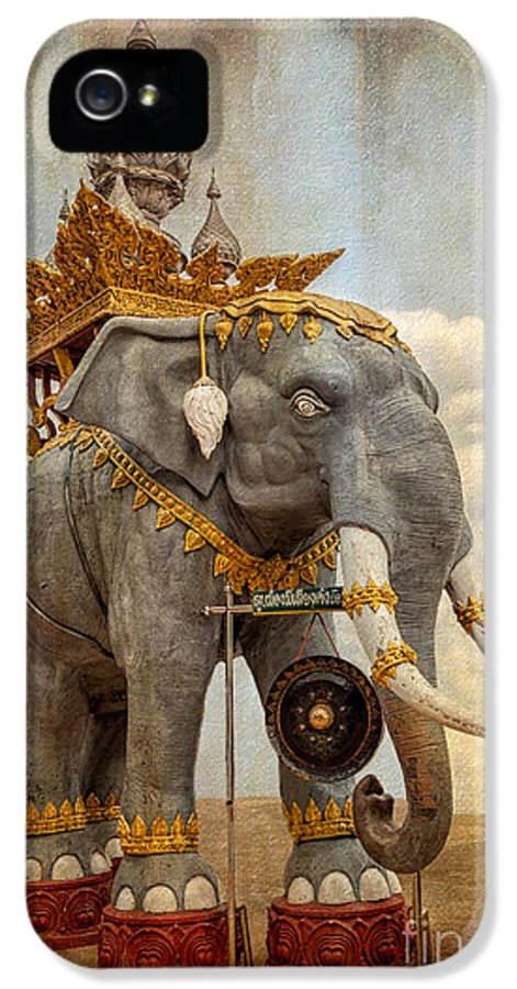 Architecture IPhone 5 Case featuring the photograph Decorative Elephant by Adrian Evans