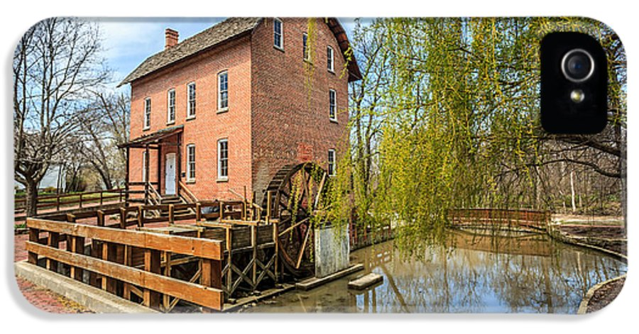 1800's IPhone 5 Case featuring the photograph Deep River County Park Grist Mill by Paul Velgos