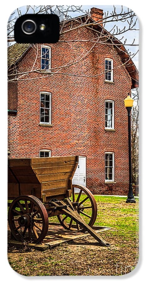 1800's IPhone 5 Case featuring the photograph Deep River Wood's Grist Mill And Wagon by Paul Velgos