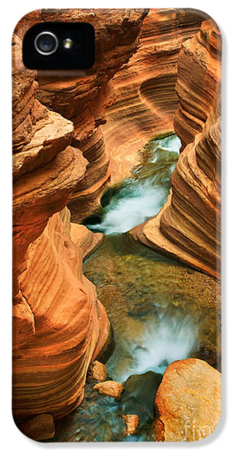 America IPhone 5 Case featuring the photograph Deer Creek Slot by Inge Johnsson