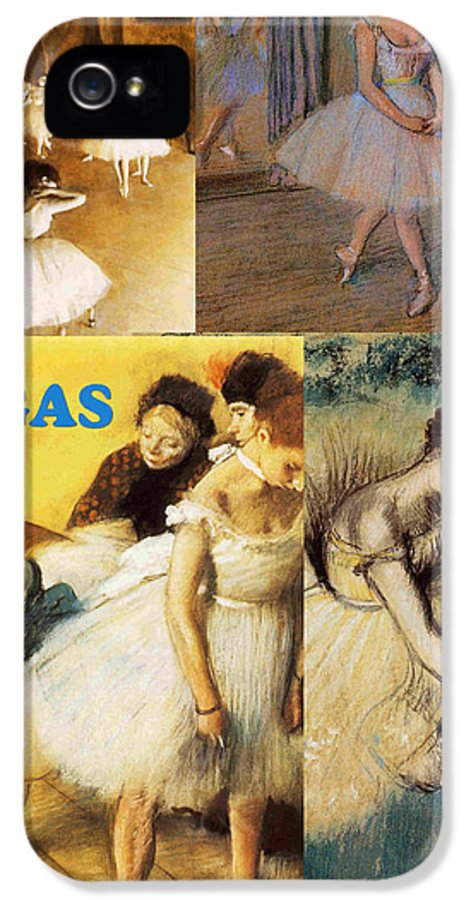 Collage IPhone 5 Case featuring the painting Degas Collage by Philip Ralley