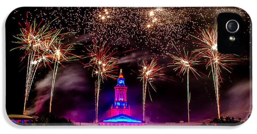 4th IPhone 5 / 5s Case featuring the photograph Denver Colorado Independence Eve Fireworks by Teri Virbickis