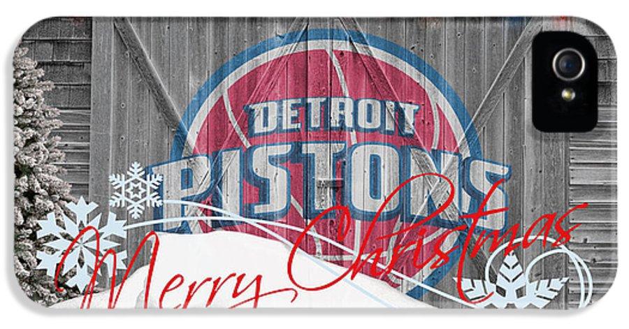 Pistons IPhone 5 Case featuring the photograph Detroit Pistons by Joe Hamilton