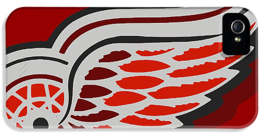 Detroit IPhone 5 Case featuring the painting Detroit Red Wings by Tony Rubino