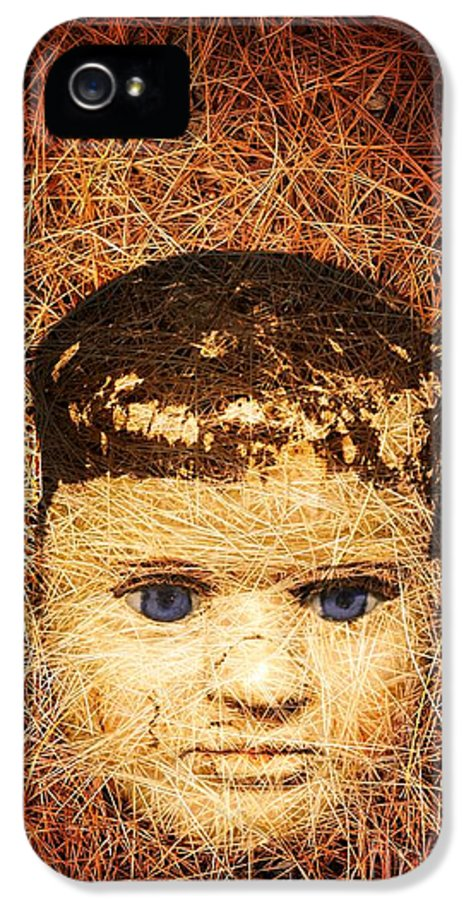 Scary IPhone 5 Case featuring the photograph Devil Child by Edward Fielding