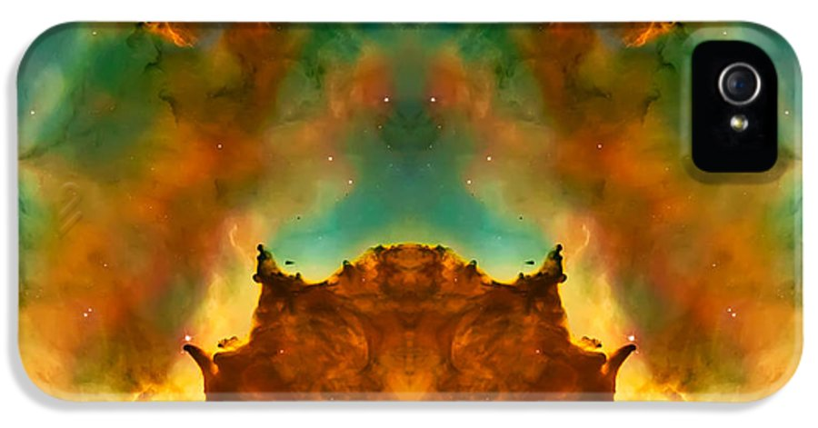 Universe IPhone 5 Case featuring the photograph Devil Nebula by Jennifer Rondinelli Reilly - Fine Art Photography