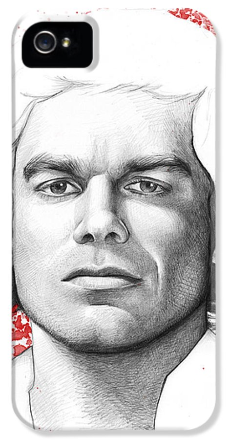 Dexter IPhone 5 Case featuring the drawing Dexter Morgan by Olga Shvartsur