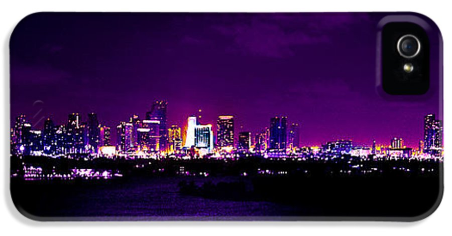 Panorama IPhone 5 Case featuring the photograph Distant Lights by Michael Guirguis