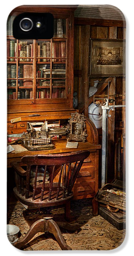 Doctor IPhone 5 Case featuring the photograph Doctor - My Tiny Little Office by Mike Savad