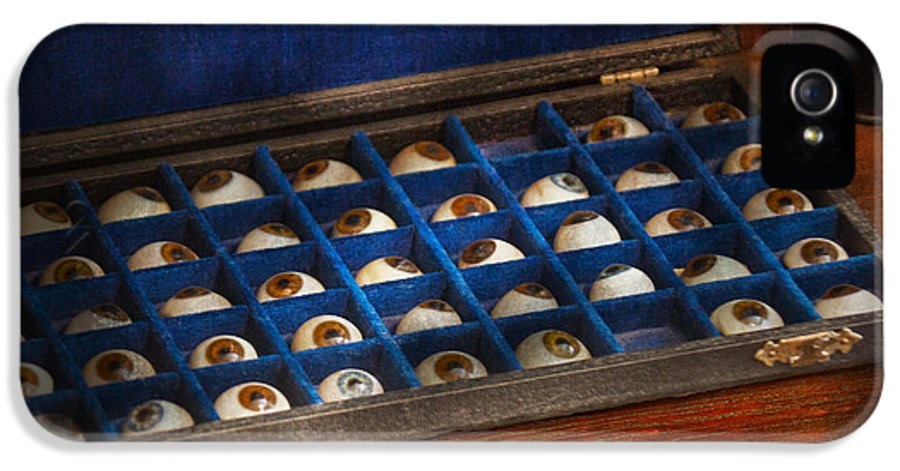 Savad IPhone 5 Case featuring the photograph Doctor - Optometrist - I've Always Had Eyes For You by Mike Savad