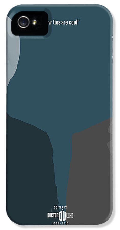 Doctor Who Digital Art IPhone 5 Case featuring the digital art Doctor Who 50th Anniversary Poster Set Eleventh Doctor by Jeff Bell
