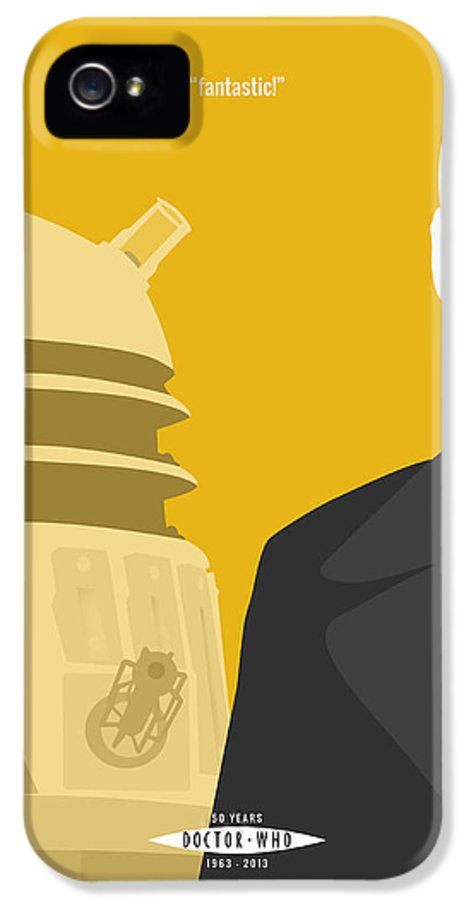 Doctor Who IPhone 5 Case featuring the digital art Doctor Who 50th Anniversary Poster Set Nineth Doctor by Jeff Bell