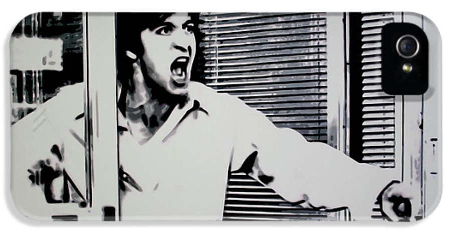 Al Pacino IPhone 5 Case featuring the painting Dog Day Afternoon by Luis Ludzska