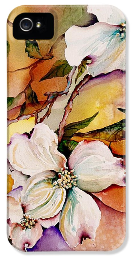 Dogwoods IPhone 5 Case featuring the painting Dogwood In Spring Colors by Lil Taylor