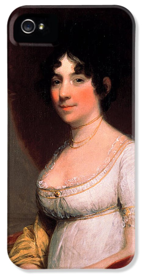 Gilbert Stuart IPhone 5 Case featuring the painting Dolley Payne Madison by Gilbert Stuart