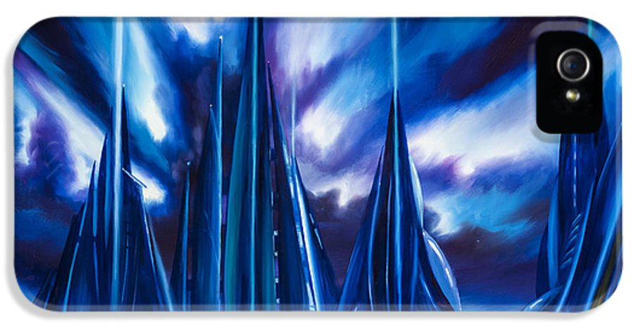 James Christopher Hill IPhone 5 Case featuring the painting Domed City by James Christopher Hill