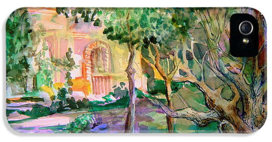 Italy IPhone 5 Case featuring the painting Domus Pacis by Mindy Newman