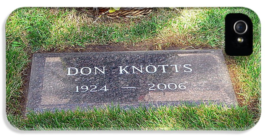 Don Knotts IPhone 5 Case featuring the photograph Don Knotts Grave by Jeff Lowe