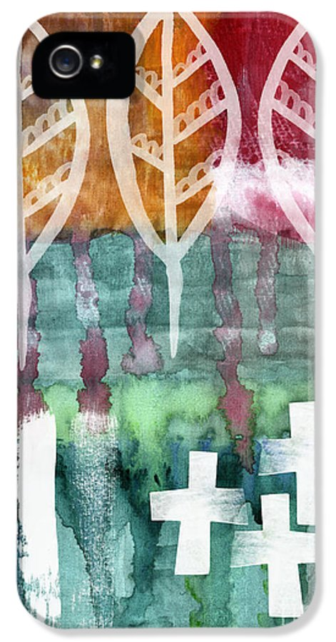 Abstract Painting IPhone 5 Case featuring the painting Done Too Soon by Linda Woods